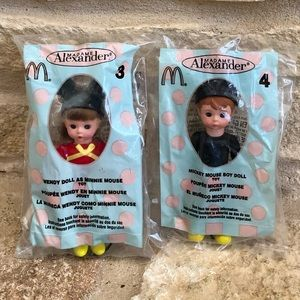 NEW MADAME ALEXANDER MICKEY MINNIE MOUSE DOLLS